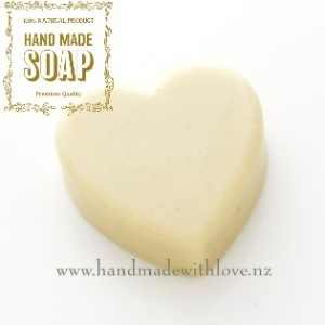 Heart soap natural