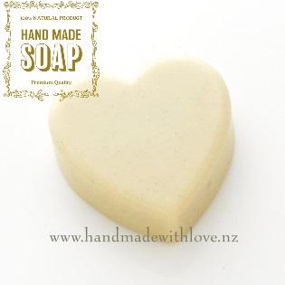 Heart soap natural