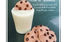 milk and cookies soap small