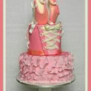 ballerina cake ballet slippers 1