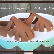 baby sandal tutorial